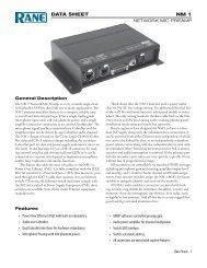 NM 1 Data Sheet - Pro Audio and Lighting