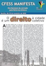 O Direito à Cidade é um Direito Coletivo - CFESS