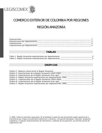 EXPORTACIONES DE COLOMBIA POR REGIONES - Legis Comex