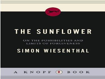the sunflower by simon wiesenthal essay