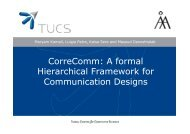 CorreComm: A formal Hierarchical Framework for Communication ...