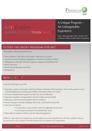 To download the program brochure, click here - Progress-U