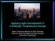 Applying Agile Development in a Politically Tempestuous Domain