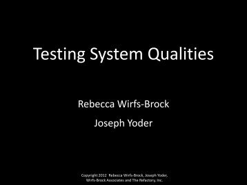 Testing System Qualities - Agile Alliance