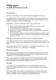 Information og oversigt - MÃ¥lgrupper
