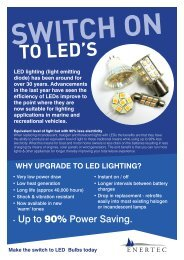 TO LED'S - Enertec Marine Systems