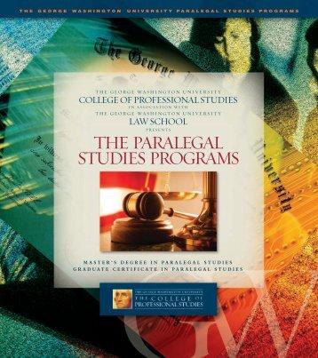 the paralegal studies programs - George Washington University
