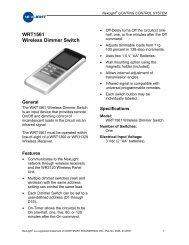 WRT1561 Wireless Dimmer Switch - NexLight
