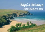 SUPPLEMENT 1 2010 - Helpful Holidays