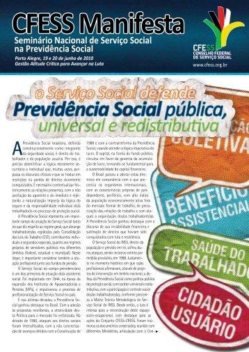 Seminário Nacional de Serviço Social na Previdência Social - CFESS