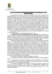 Acta de Pleno extraordinaria 16/01/2009 - Ayuntamiento de ...