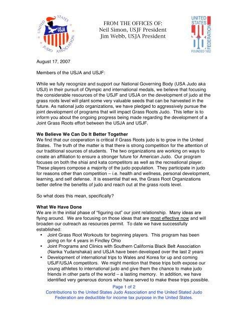 081307 USJA-USJF Presidents joint letter to membership pdf
