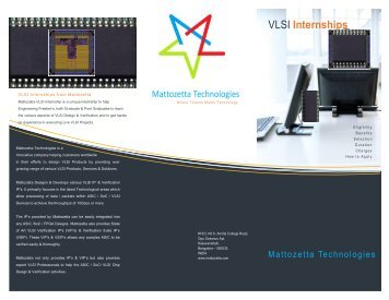 VLSI Internship Brochure - Mattozetta Technologies