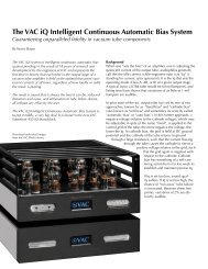 The VAC iQ Intelligent Continuous Automatic Bias System