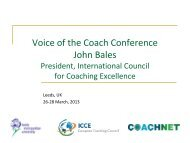 John Bales, President ICCE - International Council for Coach ...