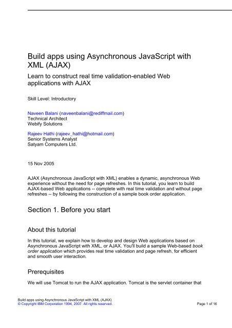 Javascript Web Applications Pdf
