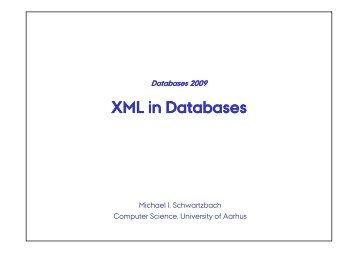 XML in Databases