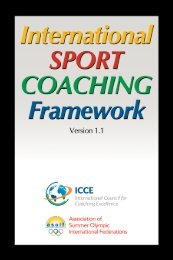 International Sport Coaching Framework – version 1.1