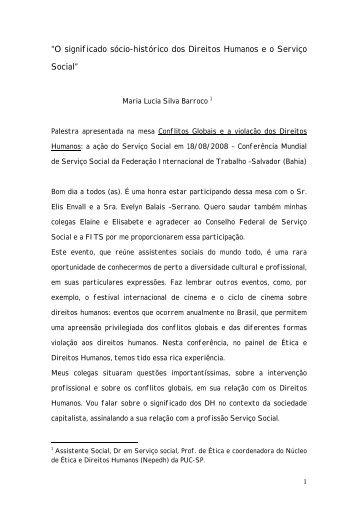 Maria Lúcia Silva Barroco - CFESS