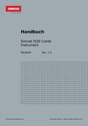 Simrad IS20 Combi Handbuch Deutsch - Yabonet Yachtshop
