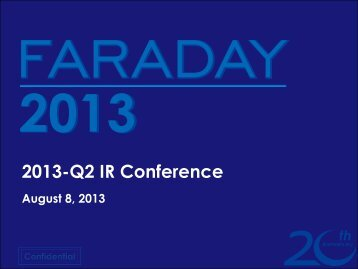 IR Conference Presentation - Faraday Technology Corporation
