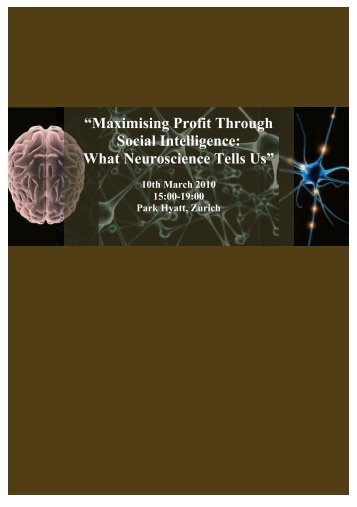 Maximising Profit through Social Intelligence - booklet