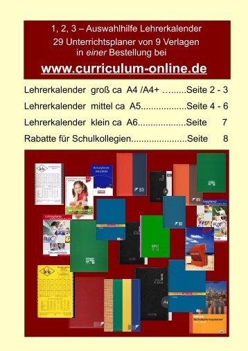 Tipp - Curriculum