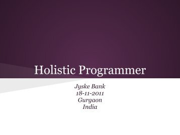 Holistic Programmer - Agile Alliance