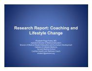 Research Report: Coaching and Lifestyle Change - Institute of ...