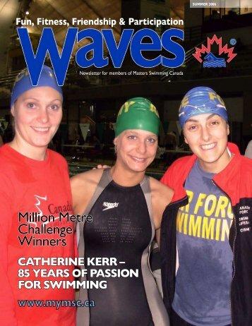 Million Metre Challenge Winners - Masters Swimming Canada