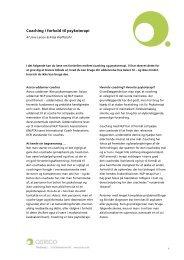 Download: NLP coaching i forhold til terapi - Asisco