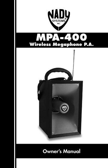 MPA-400 Wireless Megaphone PA - Pro Audio and Lighting
