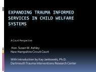 expanding trauma informed services in child welfare systems
