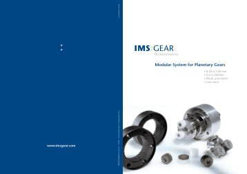 IMS Planetary Gearbox Catalogue - Drive Lines Technologies