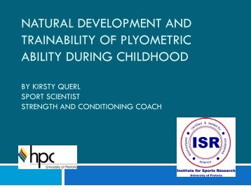 Development and Trainability of Plyometric Ability During-Kisrty ... - HP