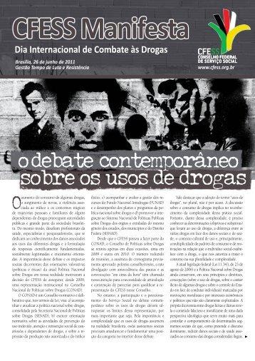 CFESS Manifesta Dia Internacional de Combate às Drogas