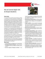 Kits de Controle Digital 1301 de Grupos Geradores - Cummins ...