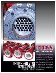 TANTALUM SHELL & TUBE HEAT EXCHANGERS