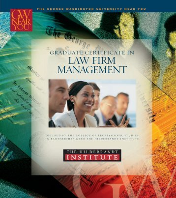 LAW FIRM MANAGEMENT - George Washington University