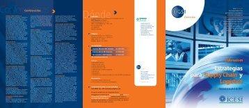 Conferencistas Inicia el 13 de Abril de 2007 - Legis Comex