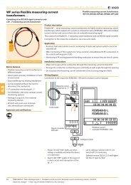 WF series flexible measuring current transformers … - Bender