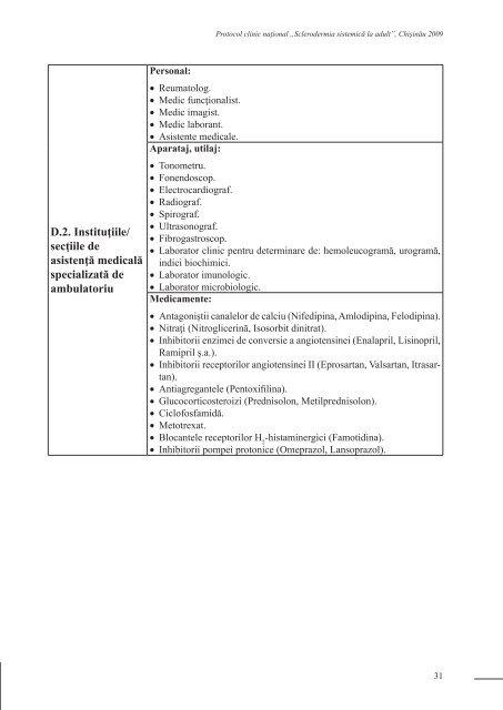 sclerodermia sistemica protocol umflarea cu boala articulară