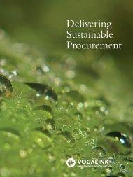 Delivering Sustainable Procurement - VocaLink