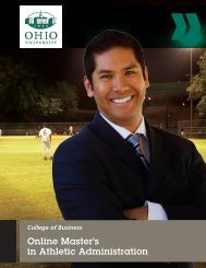Online Master's in Athletic Administration