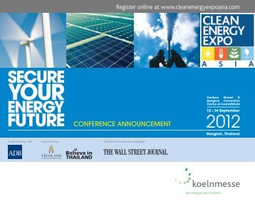 CEEA12 8pp Conf Bro.indd - Clean Energy Expo