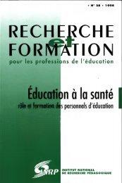 R&F Education a la sante role et formation des personnels d ...