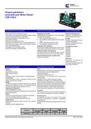 Grupos-geradores acionados por Motor Diesel C50/1-D6-4