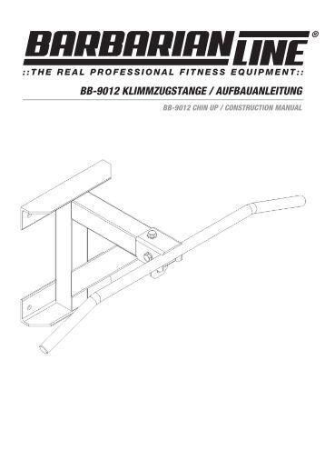 bb-9012 klimmzugstange / aufbauanleitung - Megafitness-Shop