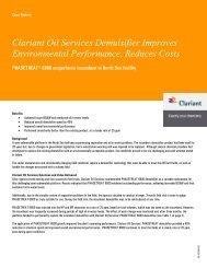 Clariant Oil Services Demulsifier Improves Environmental ...
