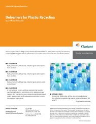 Defoamers for Plastic Recycling - Clariant